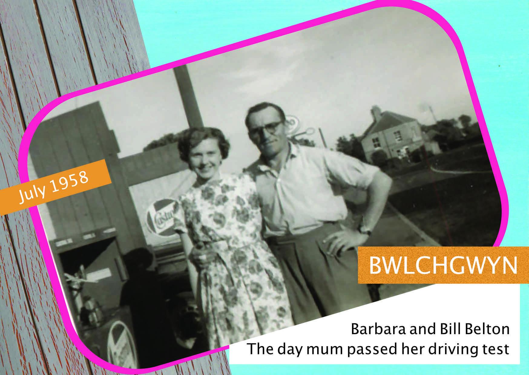 Bill and Barbara Belton, July 1958.